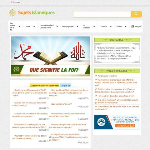 Sujets Islamiques